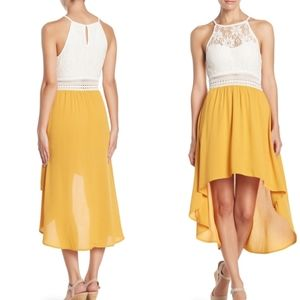KENEDIK Crochet High Low Dress, XL